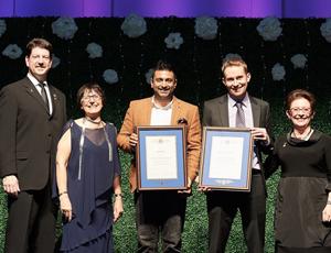 Dr Paul Dhillon et Dr Ryan Patchett-Marble, récipiendaires du Prix de développement en début de carrière