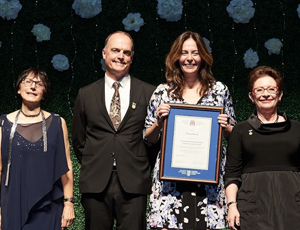 Dr. Frances Berard, recipient of the Marco Terwiel Rural Family Medicine Innovation Grant