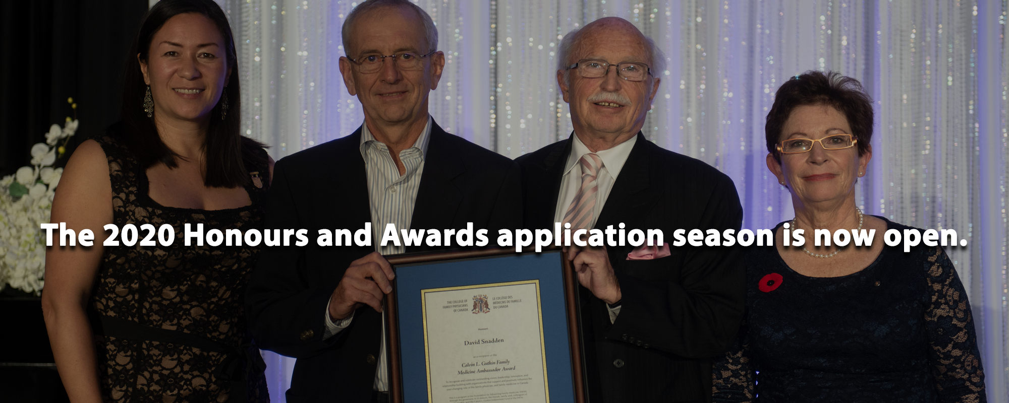 The 2020 Honours and Awards application season is now open.