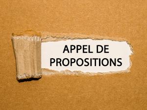 >Appel de propositions